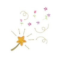 magic wand machine embroidery fairy dust girls magic stuff confetti lettering design art pes hus dst needle passion embroidery npe