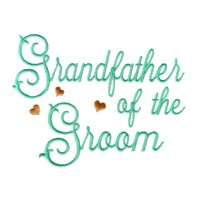 grandfather of the groom script lettering machine embroidery design love wedding heart party relatives art pes hus dst needle passion embroidery npe