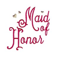 maid of honor script lettering machine embroidery design love wedding heart party relatives art pes hus dst needle passion embroidery npe