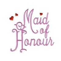 maid of honour script lettering machine embroidery design love wedding heart party relatives art pes hus dst needle passion embroidery npe