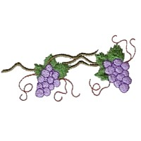 machine embroidery design wine beverage alcohol drink grapes grape vine grapevine bottle art pes hus dst needle passion embroidery npe