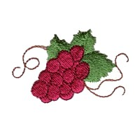 machine embroidery design fruit wine beverage alcohol drink grapes grape vine grapevine bottle art pes hus dst needle passion embroidery npe