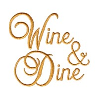machine embroidery design wine & dine beverage alcohol drink grapes grape vine grapevine bottle art pes hus dst needle passion embroidery npe