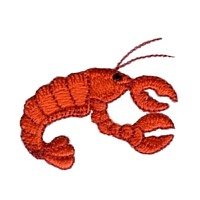 machine embroidery design crrayfish lobster crustacian sea animal art pes hus dst needle passion embroidery npe