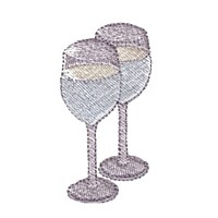 machine embroidery design wine glasses beverage alcohol drink grapes grape vine grapevine bottle art pes hus dst needle passion embroidery npe