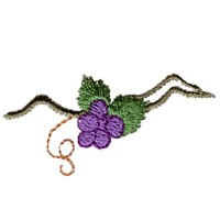 free machine embroidery design wine beverage alcohol drink grapes grape vine grapevine bottle art pes hus dst needle passion embroidery npe