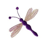 dragonfly mayfly bug critter for variegated thread machine embroidery needlepassion needle passion embroidery