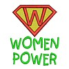 womenpower women power lettering text saying slogan feminist superhero super hero superman sign logo emblem stitchery machine embroidery design needle passion embroidery needlepassion npe bernina artista art pes hus jef dst designs free sample design with embroidery pack