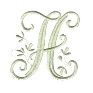 Vintage Alphabet monogram letter designs for machine embroidery